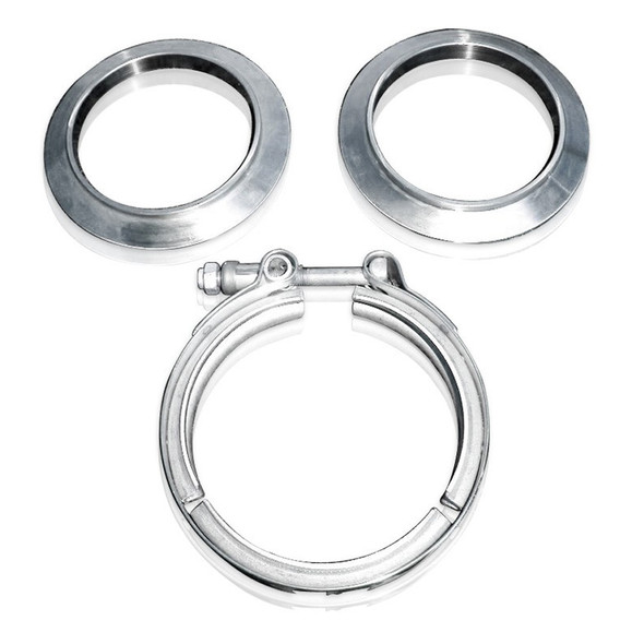 STAINLESS WORKS SWOVBC4 V-band kit 4in Kit Includes Clamp & Flanges Performance Oil Shop