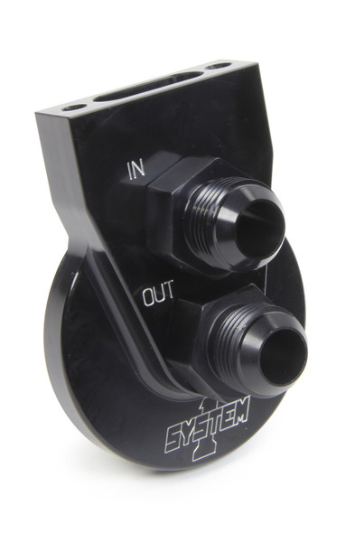 SYSTEM ONE SYS221-90004-12B Remote Filter Mount #12 w/Flat Mnt Surface Black Performance Oil Shop