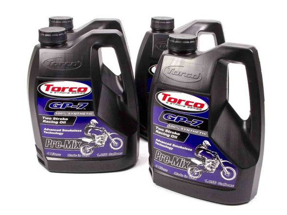 TORCO TRCT930077S GP-7 Racing 2 Cycle Oil Case 4x1 Gallon Performance Oil Shop