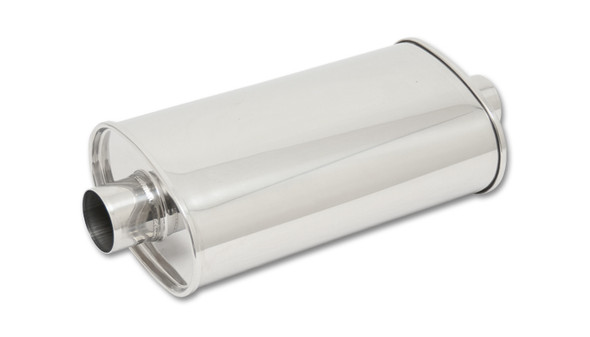 VIBRANT PERFORMANCE VIB1137 STREETPOWER Oval Muffler 4in inlet/outlet Performance Oil Shop