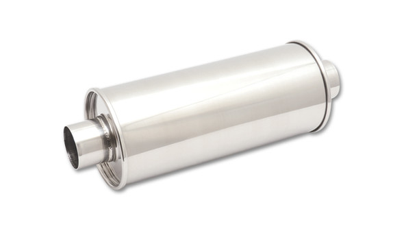 VIBRANT PERFORMANCE VIB1139 STREETPOWER Round Muffle r 4in inlet/outlet Performance Oil Shop