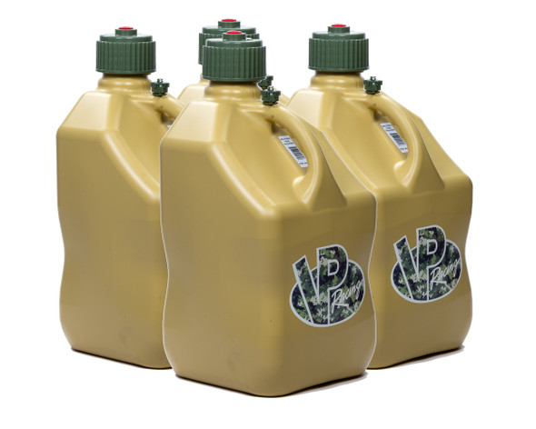 VP FUEL CONTAINERS VPF4044 Utility Jug 5 Gal Tan Square (Case 4) Performance Oil Shop