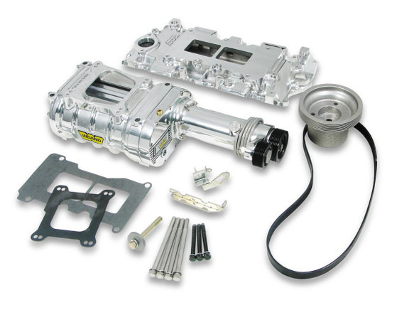 WEIAND WEI6510-1 SBC 142 Supercharger Kit - Polished Performance Oil Shop