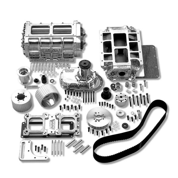 WEIAND WEI7582P SBC 6-71 Supercharger Kit - Polished Performance Oil Shop