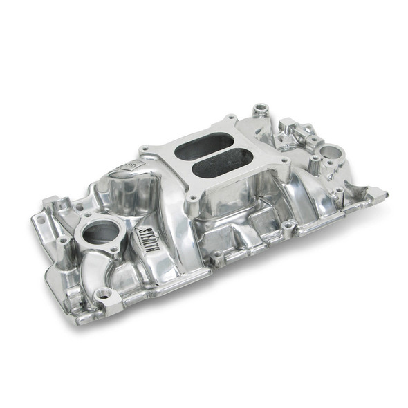 WEIAND WEI8150P SBC Stealth Manifold - Polished Performance Oil Shop