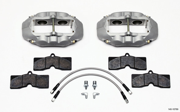 WILWOOD WIL140-10789 Front Brake Kit 65-82 Corvette Clear Anodized Performance Oil Shop