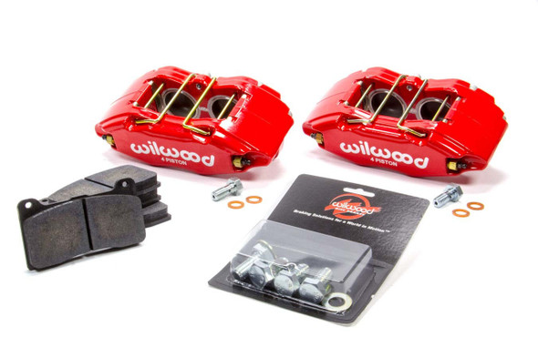 WILWOOD WIL140-13029-R Caliper & Pad Kit Front Honda/Acura Red Performance Oil Shop