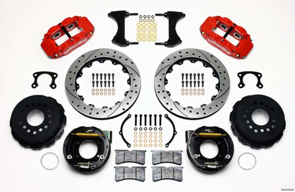 WILWOOD WIL140-9219-DR Rear Disc Brake Kit Red Ford New Style 12.88 Performance Oil Shop