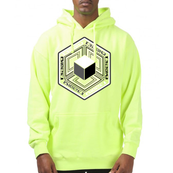 IMPOSSIBLE CUBE SAFETY GREEN HOODIE