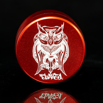 GRINDER THREE CHAMBER OWL RED