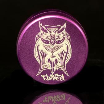 GRINDER THREE CHAMBER OWL PURPLE