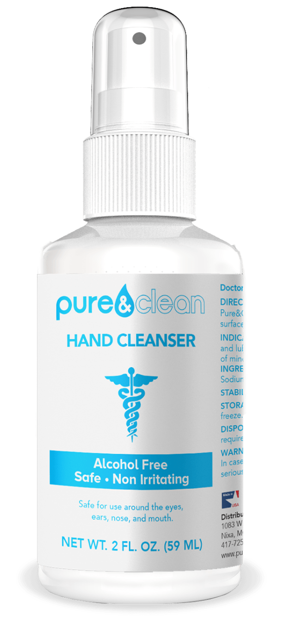 Hand Cleanser - 2 oz Spray - 150 ppm HOCl (Box of 160)