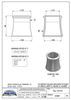KYM17 (300mm High) Dimensions