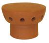 Flue vent 185mm Terracotta