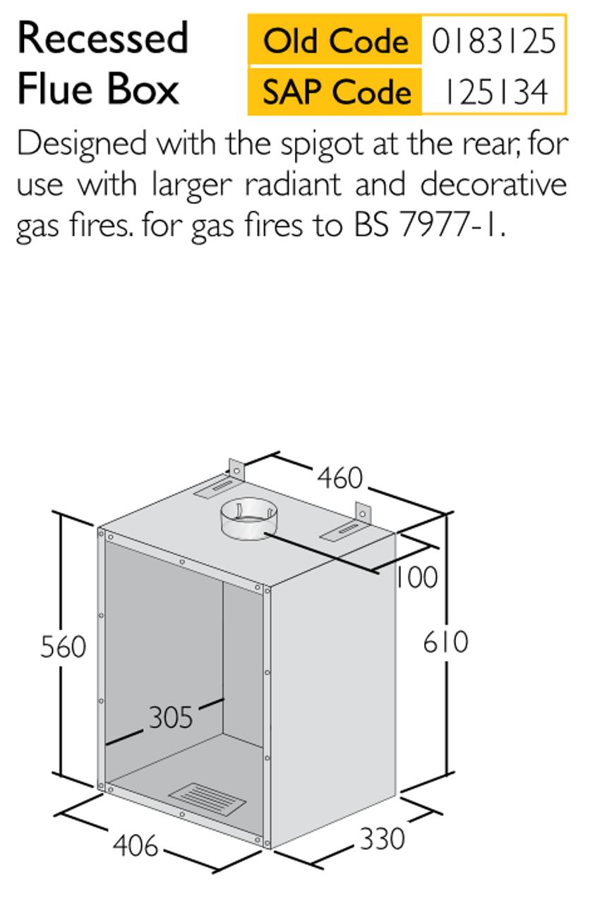 Recessed Flue Box 125mm