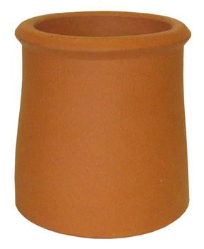 Roll top chimney pot terracotta