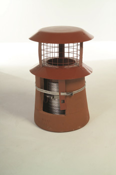 Push Fit Solid Fuel Chimney Liner Cowl