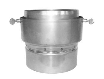 Stove Pipe to Tecnoflex Thumbscrew Adaptor - 125mm