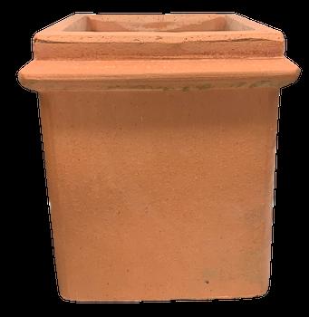 KYN Square Beaded Chimney Pot Terracotta