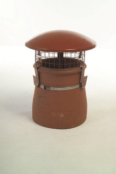Terracotta Chimney Rain Cowl (Gas Only)