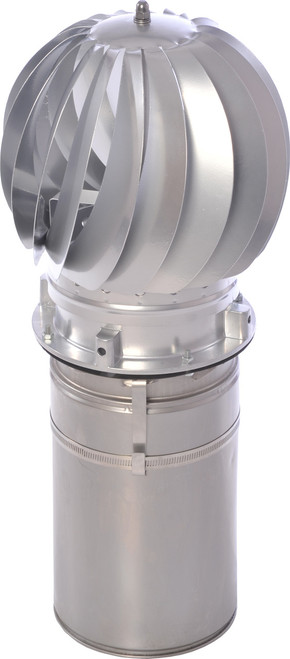 Stainless Mini Spinning Chimney Pot Cowl