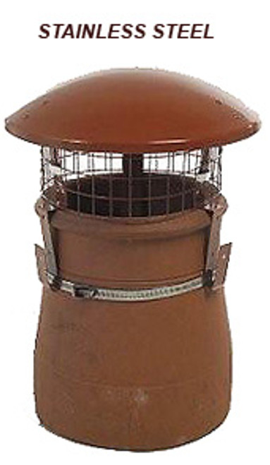Stainless Steel Terracotta Raincap Cowl