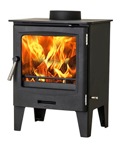 Horizon 5kW DEFRA Approved Stove Angle View