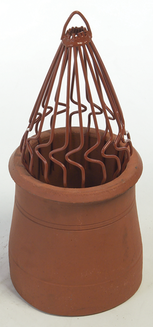 Sprung Chimney Bird Guard Terracotta