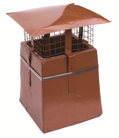 Square Bird guard Terracotta