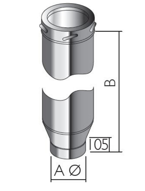 Schiedel ICID SW-DW Adjustable Starter Section
