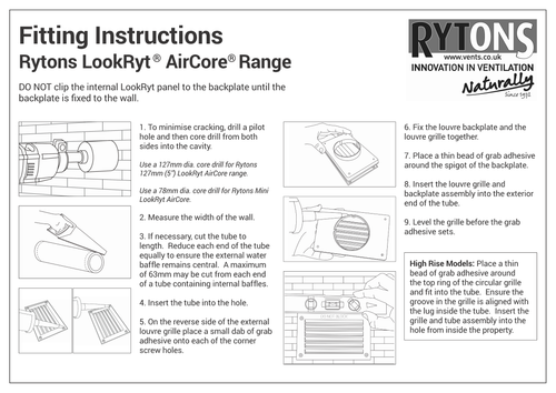 Fitting Instructions Page 1