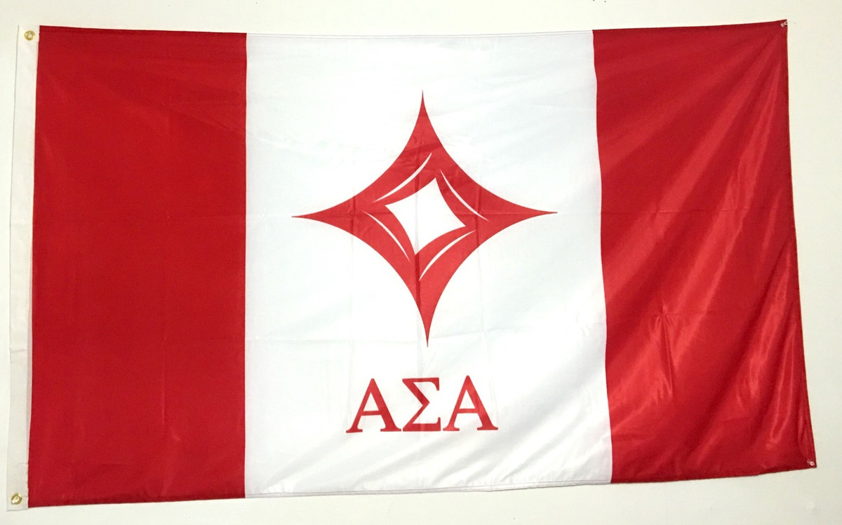 Alpha Sigma Alpha 3' X 5' Flag - Officially Approved