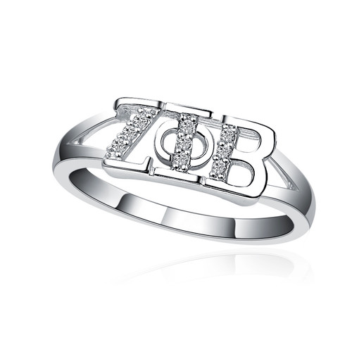 Zeta Phi Beta Horizontal Silver ring (ZPB-R001)