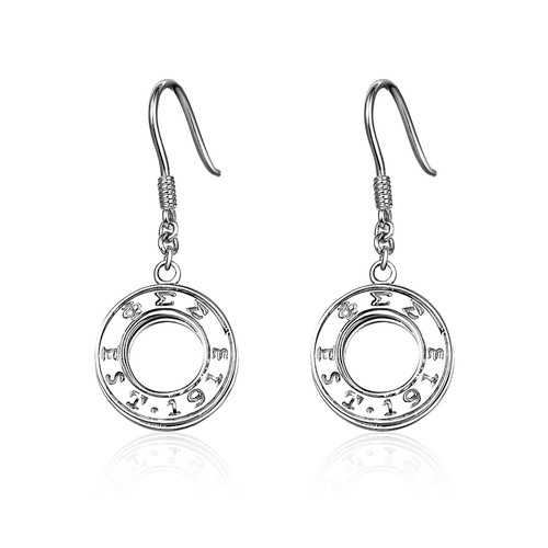 Phi Sigma Sigma Eternity Silver Earring