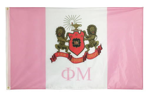 Phi Mu 3' X 5' Flag - Officially Approved