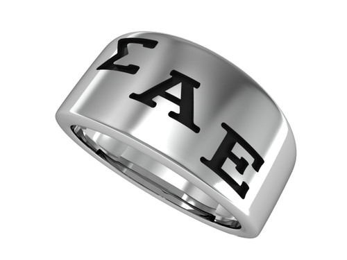 Sigma Alpha Epsilon Brotherhood Silver Ring (SAE-R001)