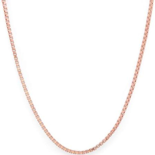 "20"" Sterling Silver Chain - Rose Gold Plated"
