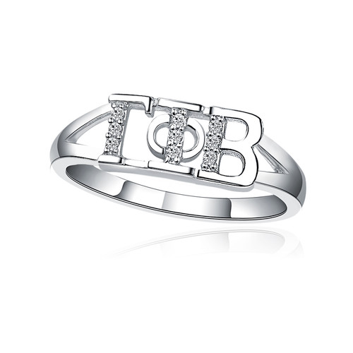 Gamma Phi Beta Horizontal Silver Ring (GPB-R001)
