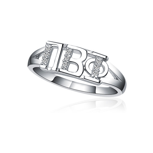 Pi Beta Phi Horizontal Silver Ring (R001)