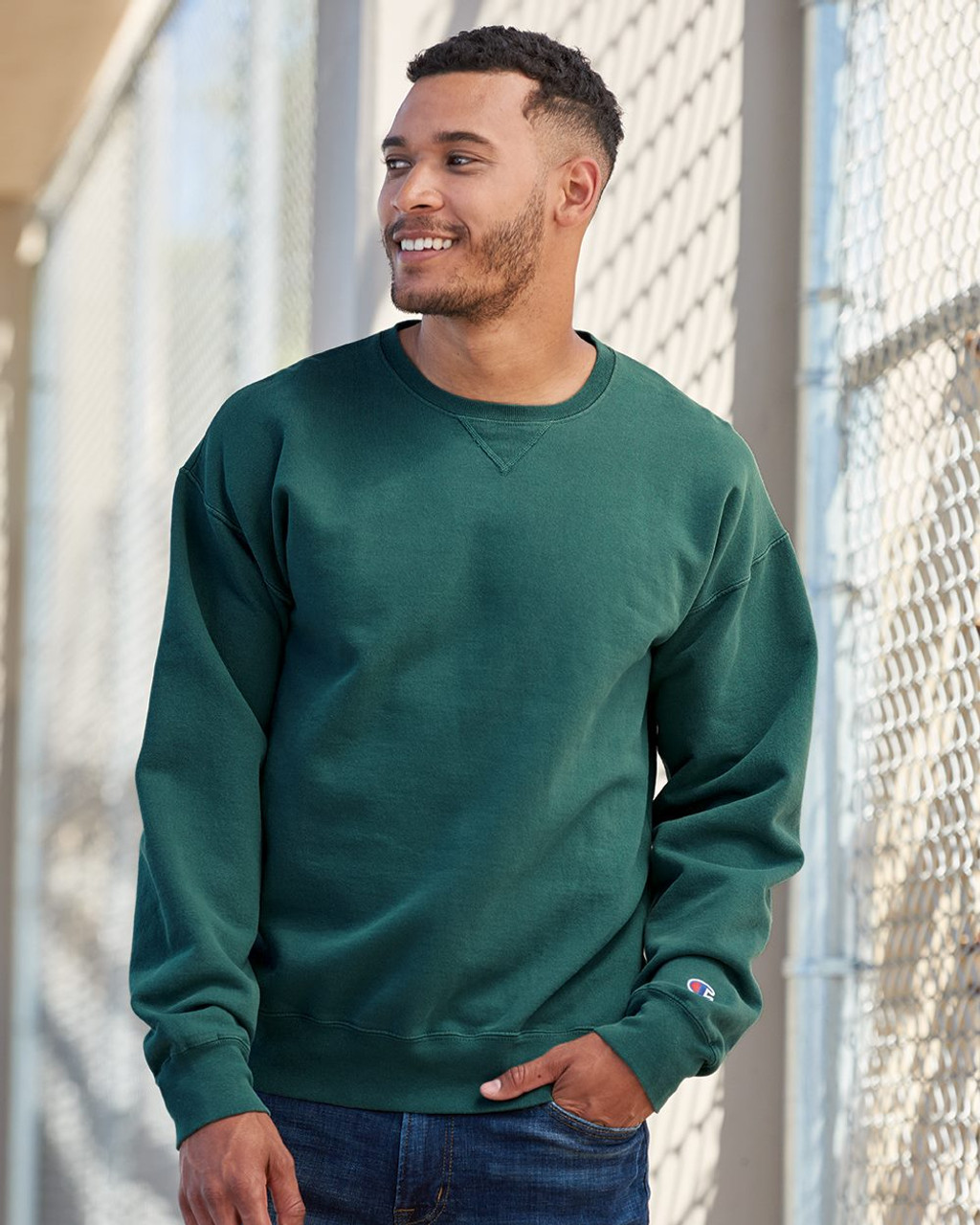 Champion Garment Dyed Hooded Sweatshirt CD450 Hoodie S-3XL