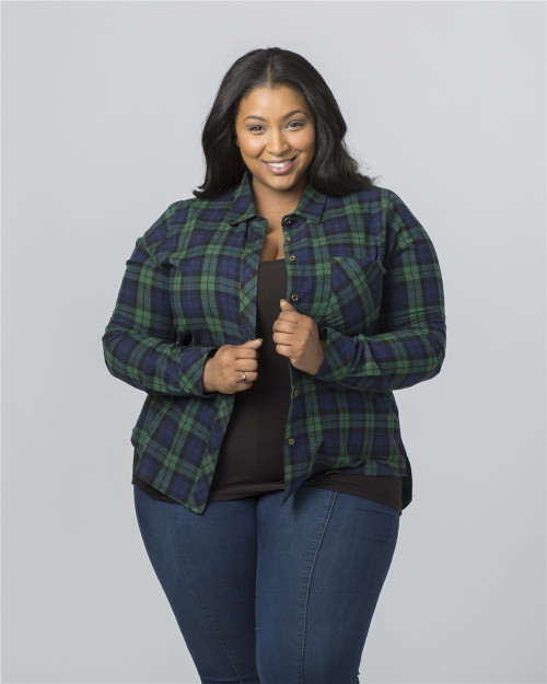 Boxercraft Women's Plus Size Flannel Shirt F50PLUS