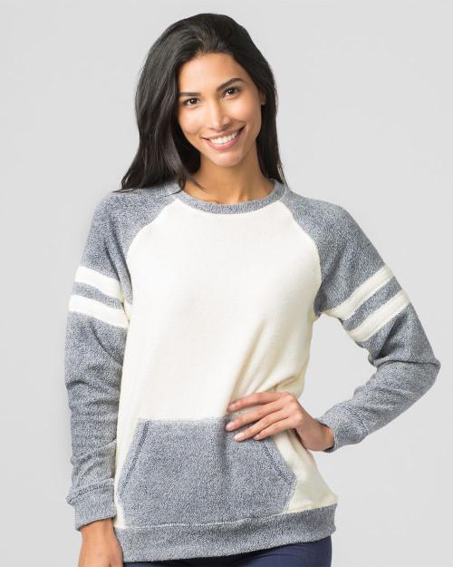 Boxercraft Women's Cozy Contrast Fleece Pullover L04