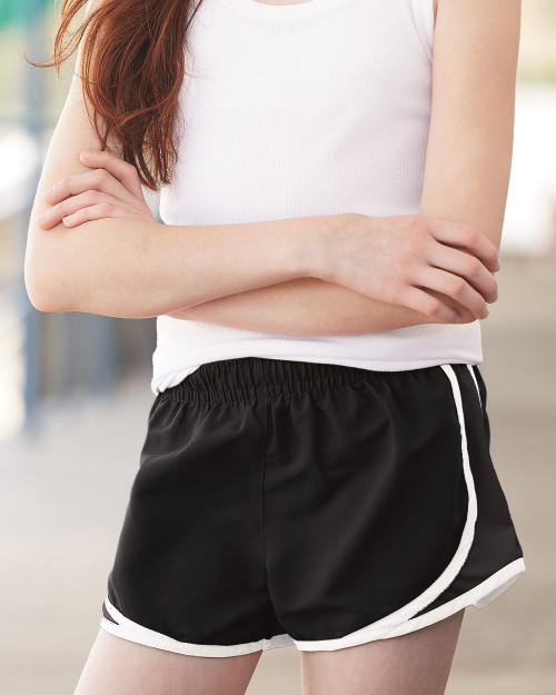 "Boxercraft Girls' Velocity 2 1/4"" Running Shorts P62Y"