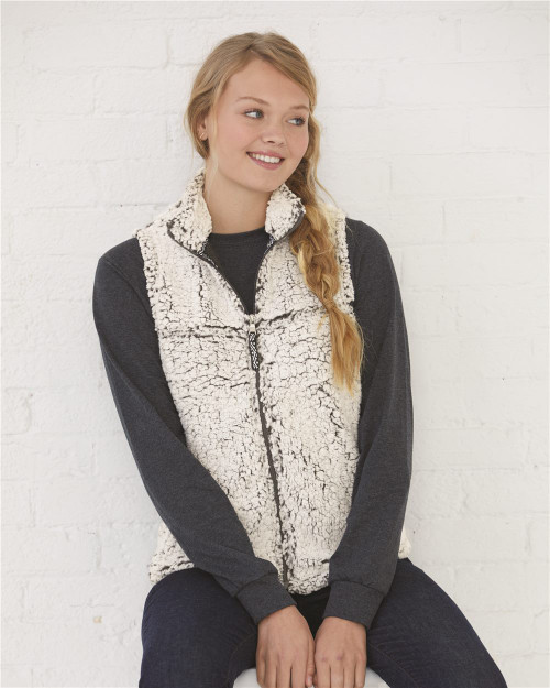 Boxercraft Women's Sherpa Full-Zip Vest Q11