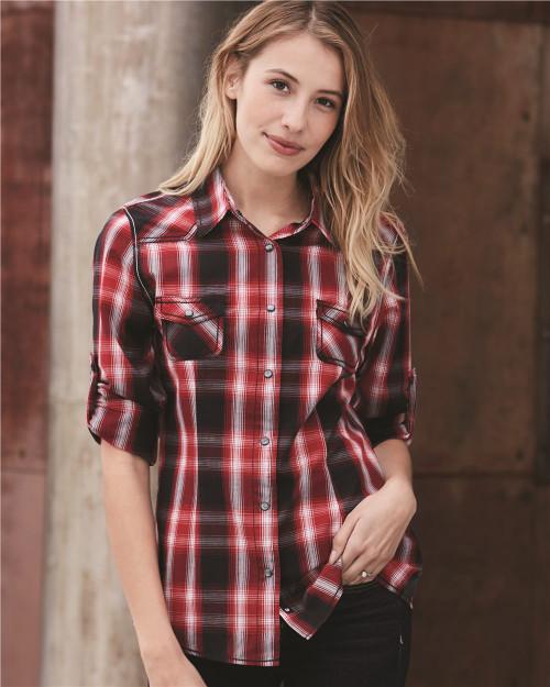 Burnside Women's Convertible Sleeve Western Shirt 5206