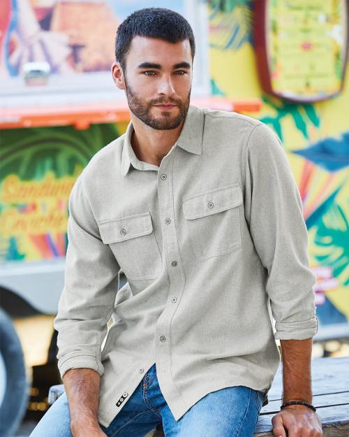 Burnside Long Sleeve Solid Flannel Shirt 8200