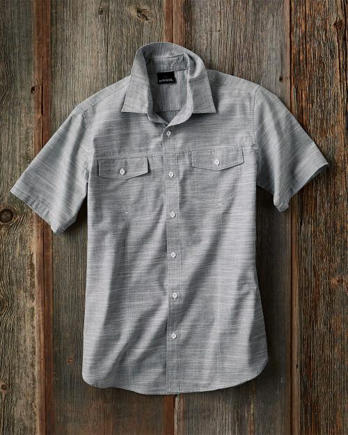 Burnside Textured Solid Short Sleeve Shirt 9247