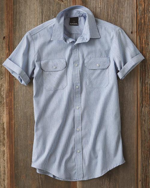 Burnside Dobby Stripe Short Sleeve Shirt 9265