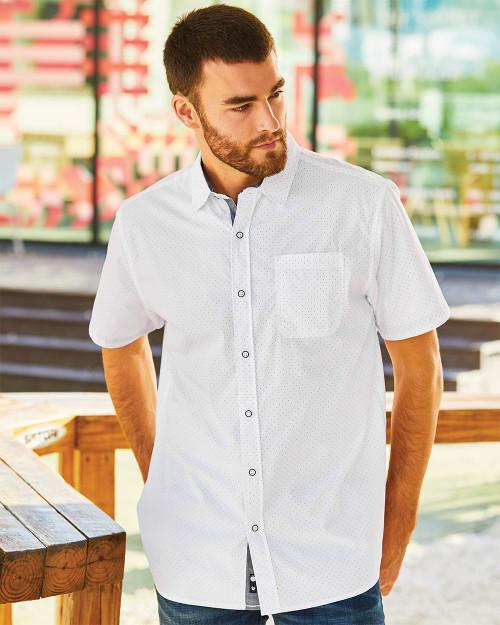 Burnside Peached Printed Poplin Short Sleeve Shirt 9290