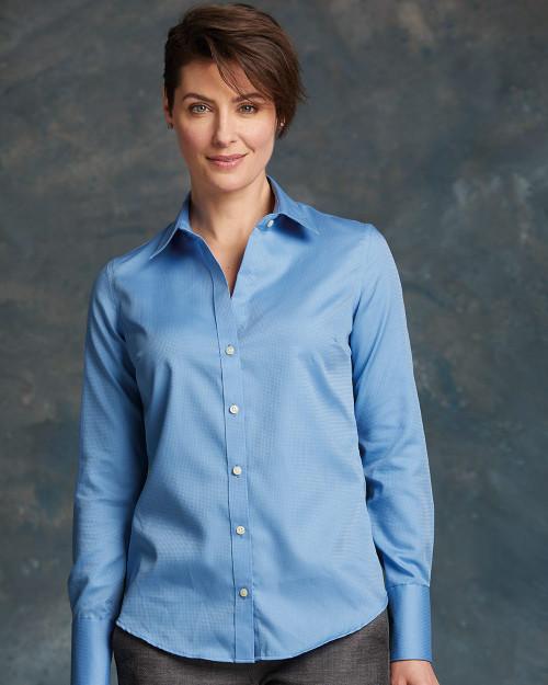 Calvin Klein Women's Non-Iron Dobby Pindot Shirt 13CK030